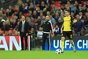 13th September 2017, Wembley Stadium, London, England; Champions League Group stage, Tottenham Hotspur versus Borussia Dortmund; Christian Pulisic of Borussia Dortmund