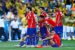 Chile team group (BRA),<br /> JUNE 28, 2014 - Football / Soccer :<br /> Chile team group look dejected in the penalty shoot out during the FIFA World Cup Brazil 2014 Round of 16 match between Brazil 1(3-2)1 Chile at Estadio Mineirao in Belo Horizonte, Brazil. (Photo by D.Nakashima/AFLO)