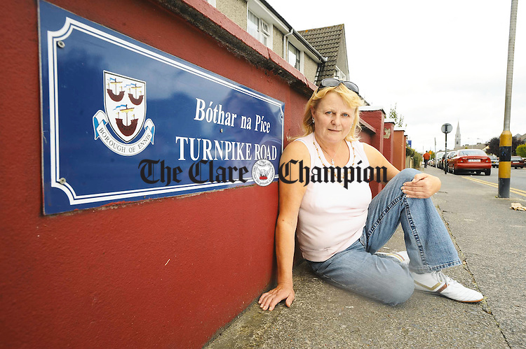 Imelda O Grady, a relative of Muhammad Ali, on the Turnpike Road in Ennis. Photograph by John Kelly.