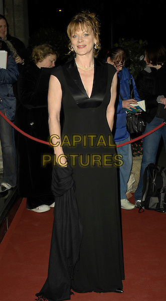 SAMANTHA BOND .Arrivals - Laurence Olivier Awards at the Grosvenor Hotel, Park Lane, London, UK..February 18th, 2007.full length black dress.CAP/CAN.©Can Nguyen/Capital Pictures