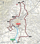 Map of the 102nd edition of GranPiemonte 2018, running 191km from Racconigi to Stupinigi, Piemonte, Italy. 11th October 2018.<br /> Picture: RCS   Cyclefile<br /> <br /> <br /> All photos usage must carry mandatory copyright credit (© Cyclefile   RCS)