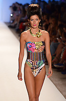 Alice Panikian in Dolores Cortes Swimwear Show during Mercedes Benz IMG Fashion Swim Week 2013 at The Raleigh Hotel, Miami Beach, FL on July 20, 2012