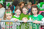 Sarah Gallagher, Katie Scott, Ella Scott and Aoibhe Gallagher Killarney having fun at the Killarney St Patrick's day parade on Saturday ..