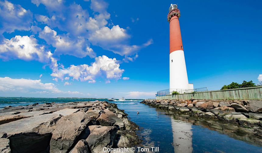 Barnegat Lighthouse, Barnegat Lighthouse State Park, New Jersey  Atlantic Ocean Barrier Island