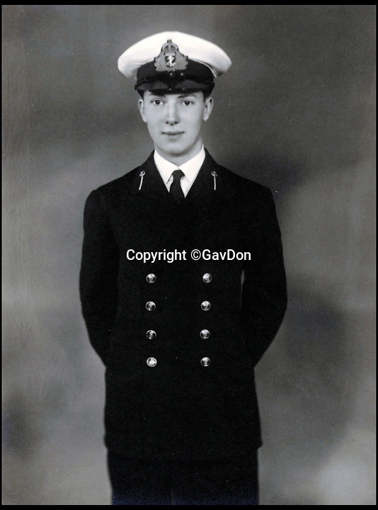 BNPS.co.uk (01202 558833)<br /> Pic: GavDon/BNPS<br /> <br /> Robert Douglas Don as a Midshipman.<br /> <br /> The relatives of the crew of a lost British submarine have gathered together to mark the 77th anniversary of their deaths and are determined to finally track down their watery tomb...<br /> <br /> Poignantly, the families met up on HMS Alliance, the only remaining WW2 era British submarine based at the Royal Navy's submarine museum in Gosport.<br /> <br /> Royal Navy submarine HMS Triumph is thought to have been sunk by a German mine whilst on a top secret mission in the Aegean on the 9th of January 1942, but their final resting place has never been found.<br /> <br /> They were traced and brought together by Gav Don, who is on a one-man mission to find the wreck of the submarine that is somewhere in the <br /> Aegean Sea.<br /> <br /> The former Royal Navy officer's uncle Robert Douglas-Don died with the rest of the 62-strong crew in January 1942.<br /> <br /> At the time the submarine was on a top secret mission to recover 18 escaped Allied soldiers from a remote Greek island.