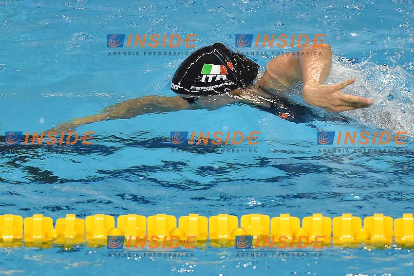 Erika FERRAIOLI ITA Women's 50m Freestyle <br /> Doha Qatar 06-12-2014 Hamad Aquatic Centre, 12th FINA World Swimming Championships (25m). Nuoto Campionati mondiali di nuoto in vasca corta.<br /> Photo Andrea Staccioli/Deepbluemedia/Insidefoto