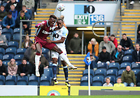 Blackburn Rovers' Ryan Nyambe and Aston Villa<br /> Tammy Abraham<br /> <br /> Photographer Rachel Holborn/CameraSport<br /> <br /> The EFL Sky Bet Championship - Blackburn Rovers v Aston Villa - Saturday 15th September 2018 - Ewood Park - Blackburn<br /> <br /> World Copyright &copy; 2018 CameraSport. All rights reserved. 43 Linden Ave. Countesthorpe. Leicester. England. LE8 5PG - Tel: +44 (0) 116 277 4147 - admin@camerasport.com - www.camerasport.com