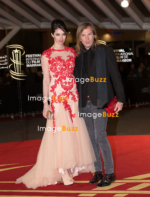 Sarah Barzyk and Christophe Guillarme attend the tribute to Japanese cinema at 14th Marrakech International Film Festival on December 9, 2014 in Marrakech, Morocco