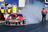 Jul. 26, 2013; Sonoma, CA, USA: NHRA pro stock driver V. Gaines during qualifying for the Sonoma Nationals at Sonoma Raceway. Mandatory Credit: Mark J. Rebilas-