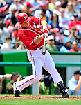 25 April 2010: Washington Nationals' left fielder Josh Willingham in action against the Los Angeles Dodgers at Nationals Park in Washington, DC. The Nationals shut out the Dodgers 1-0 to take the rubber match of their 3-game series. Mandatory Credit: Ed Wolfstein Photo
