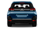 Straight rear view of a 2017 Peugeot 5008 GT Line 5 Door SUV stock images