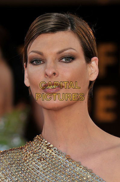 "LINDA EVANGELISTA.""Indiana Jones and the Kingdom of the Crystal Skull"" film premiere arrivals at Palais de Festival.61st Cannes International  Film Festival, France.18th May 2008 .portrait headshot gold sequel 4 IV make-up.CAP/PL.© Phil Loftus/Capital Pictures"