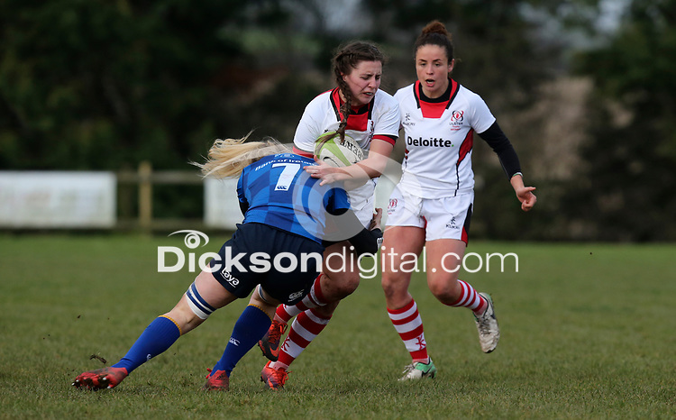 Sunday 3rd December 2017; Ulster Women vs Leinster Women<br /> <br /> Beth Cregan during the Women's Inter-Pro between Ulster and Leinster at Dromore RFC, Barbon Hill, Dromore, County Down, Northern Ireland. Photo by John Dickson / DICKSONDIGITAL