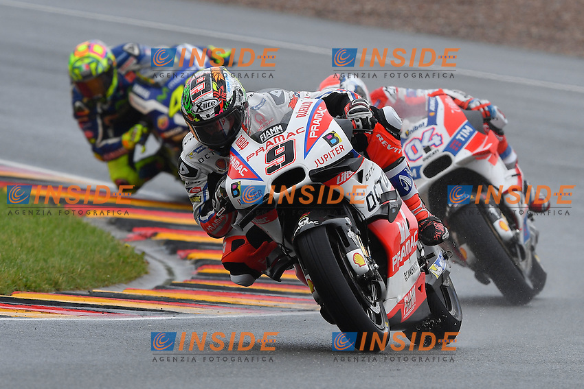 Sachsenring (Germania) 17-07-2015 - Moto GP / foto Luca Gambuti/Image Sport/Insidefoto<br /> nella foto: Danilo Petrucci-Andrea Dovizioso-Valentino Rossi-