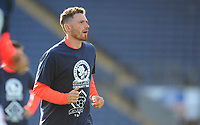 Blackburn Rovers' Corry Evans during the pre-match warm-up <br /> <br /> Photographer Kevin Barnes/CameraSport<br /> <br /> The EFL Sky Bet Championship - Blackburn Rovers v Huddersfield Town - Saturday 19th October 2019 - Ewood Park - Blackburn<br /> <br /> World Copyright © 2019 CameraSport. All rights reserved. 43 Linden Ave. Countesthorpe. Leicester. England. LE8 5PG - Tel: +44 (0) 116 277 4147 - admin@camerasport.com - www.camerasport.com