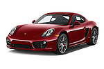 2015 Porsche Cayman S 2 Door Coupe Angular Front stock photos of front three quarter view