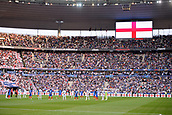 June 13th 2017, Stade de France, Paris, France; International football friendly, France versus England;  English fans pay their respects during the 1 minute silence
