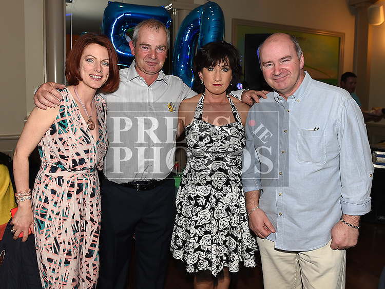 Thomas Butterly celebrating his 50th birthday in the Thatch with his sisters Maria and Geraldine and brother Patrick. Photo:Colin Bell/pressphotos.ie
