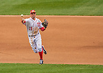 1 April 2013: Washington Nationals third baseman Ryan Zimmerman in action during the Nationals' Opening Day Game against the Miami Marlins at Nationals Park in Washington, DC. The Nationals shut out the Marlins 2-0 to launch the 2013 season. Mandatory Credit: Ed Wolfstein Photo *** RAW (NEF) Image File Available ***