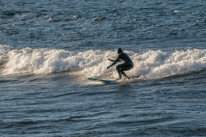Lake Superior surfing at Marquette, Michigan.