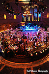 The elegant ballroom at a Gotham Hall wedding in New York City...