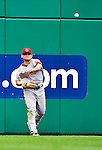 15 August 2010: Arizona Diamondbacks left fielder Gerardo Parra in action against the Washington Nationals at Nationals Park in Washington, DC. The Nationals defeated the Diamondbacks 5-3 to take the rubber match of their 3-game series. Mandatory Credit: Ed Wolfstein Photo
