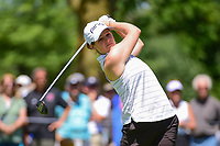 Ally McDonald (USA) watches her tee shot on 2 during Saturday's round 3 of the 2017 KPMG Women's PGA Championship, at Olympia Fields Country Club, Olympia Fields, Illinois. 7/1/2017.<br /> Picture: Golffile | Ken Murray<br /> <br /> <br /> All photo usage must carry mandatory copyright credit (&copy; Golffile | Ken Murray)
