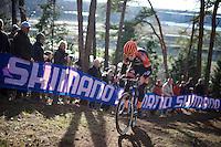 Wout Van Aert (BEL/Vastgoedservice-Golden Palace)<br /> <br /> UCI Cyclocross World Cup Heusden-Zolder 2015