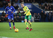 1st December 2017, Cardiff City Stadium, Cardiff, Wales; EFL Championship Football, Cardiff City versus Norwich City; James Maddison of Norwich City plays the ball forward
