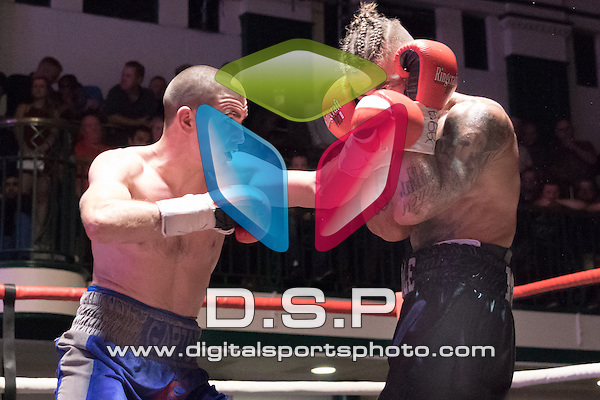 Johnny Garton VS Tyler Goodjohn - English Welterweight Title Contest During Goodwin Boxing: Lethal Combination. Photo by: Simon Downing.<br /> <br /> Saturday 17th September 2016 - York Hall, Bethnal Green, London, United Kingdom.