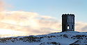 07/12/12 ..As the big freeze continues, dawn breaks over Solomon's Temple (also known as Grinlow Tower) a Victorian Folly near the spa town of Buxton in Derbyshire....All Rights Reserved - F Stop Press.  www.fstoppress.com. Tel: +44 (0)1335 300098.