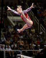 Brenna Dowell of GAGE competes on the beam during 2012 US Olympic Trials Gymnastics Finals at HP Pavilion in San Jose, California on July 1st, 2012.