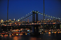Nov. 12, 2010 - New York City, NY - New York City photographed from the Brooklyn Bridge at sunset November 12, 2010. (Photo by Alan Greth)