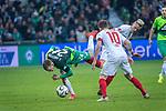 10.02.2019, Weser Stadion, Bremen, GER, 1.FBL, Werder Bremen vs FC Augsburg, <br /> <br /> DFL REGULATIONS PROHIBIT ANY USE OF PHOTOGRAPHS AS IMAGE SEQUENCES AND/OR QUASI-VIDEO.<br /> <br />  im Bild<br /> Rani Khedira (FC Augsburg #08)<br /> Johannes Eggestein (Werder Bremen #24)<br /> Daniel Baier (FC Augsburg #10)<br /> <br /> <br /> Foto © nordphoto / Kokenge