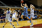 GRAND RAPIDS, MI - MARCH 18: Erica DeCandido (44) of Tufts University attempts a jump shot during the Division III Women's Basketball Championship held at Van Noord Arena on March 18, 2017 in Grand Rapids, Michigan. Amherst defeated 52-29 for the national title. (Photo by Brady Kenniston/NCAA Photos via Getty Images)