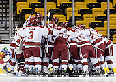 - The Northeastern University Huskies defeated the Harvard University Crimson 3-1 in the Beanpot consolation game on Monday, February 12, 2007, at TD Banknorth Garden in Boston, Massachusetts.