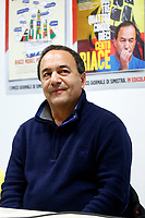 """Domenico (Mimmo) Lucano, Mayor of Riace<br /> Rome January 30th 2019. Press conference in occasion of the end of the petition for the candidacy of Mimmo Lucano for Nobel Peace Prize. <br /> The mayor of Riace, made headlines around the world for his unusual programme that welcomed migrants to the sparsely-populated town in Calabria, giving them abandoned homes and on-the-job training, in the hope that the new arrivals would rejuvenate the economy. Domenico Lucano, waiting for judgment, was detained last October over his alleged involvement in organizing """"marriages of convenience"""" for immigration purposes. <br /> Foto Samantha Zucchi Insidefoto"""