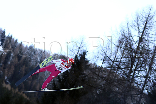 12th January 2018, Val di Fiemme, Fiemme Valley, Italy; FIS Nordic Combined World Cup, Mens Gundersen; Eric Frenzel (GER)