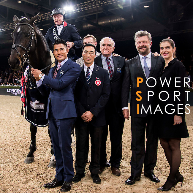 Rider in action at the Longines Grand Prix during the Longines Hong Kong Masters 2015 at the AsiaWorld Expo on 15 February 2015 in Hong Kong, China. Photo by Moses Ng / Power Sport Images