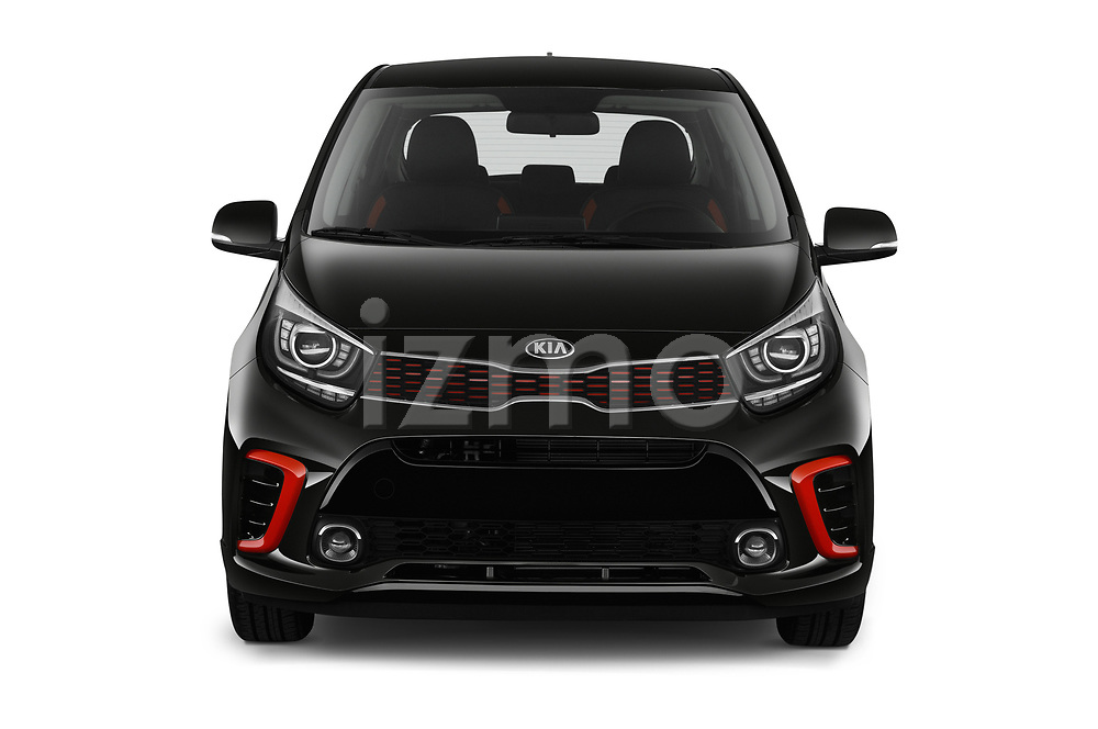 Car photography straight front view of a 2019 KIA Picanto GT Line 5 Door Hatchback