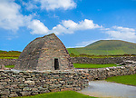 County Kerry, Ireland: Gallarus Oratory on the Dingle Peninsula, an early Christian church built between the 6th and 9th century.