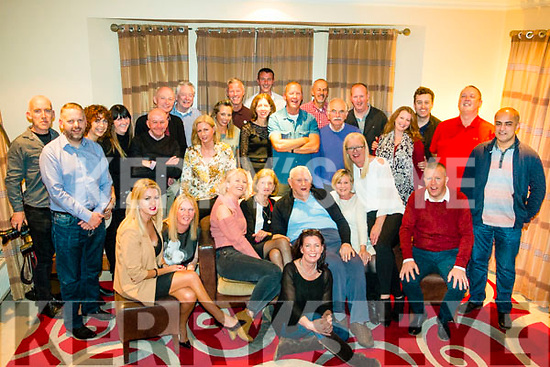 CLAN REUNION: Paddy O'Brien, Green Lane, Kenmare, with members of the O'Brien family who travelled from Dublin, Cork, the UK and the US, to attend a reunion in the Brooklane Hotel, Kenmare, on Saturday.