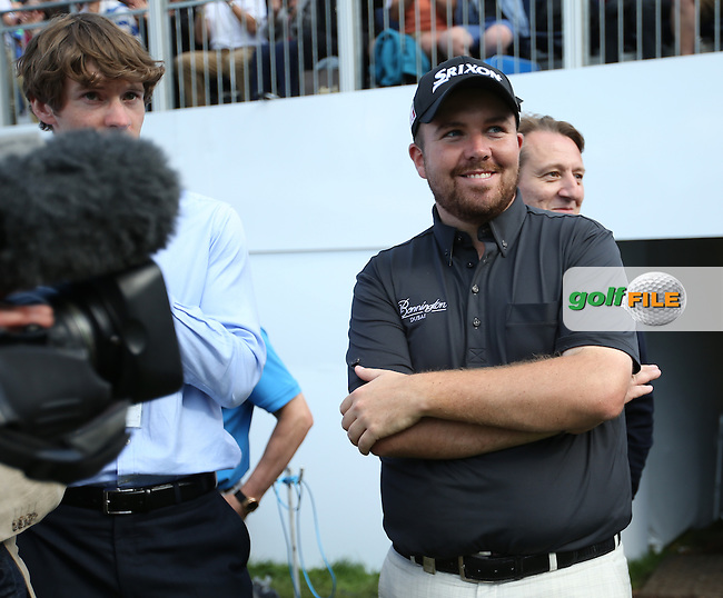 Runner-up Shane Lowry (IRL) will receive a magnum of champagne and a cheque for over E520,000 at the BMW PGA Championship from Wentworth Golf Club, Virginia Waters, London, UK. Picture:  David Lloyd / www.golffile.ie