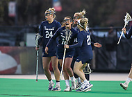 College Park, MD - April 19, 2018: Penn State Nittany Lions celebrates after a goal during game between Penn St. and Maryland at  Field Hockey and Lacrosse Complex in College Park, MD.  (Photo by Elliott Brown/Media Images International)