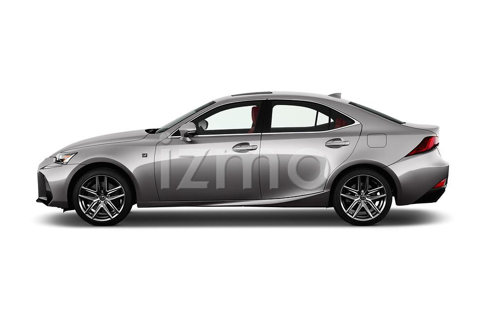 Car Driver side profile view of a 2017 Lexus IS 350 4 Door Sedan Side View