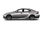 Car Driver side profile view of a 2017 Lexus IS 350 4 Door Sedan Side View