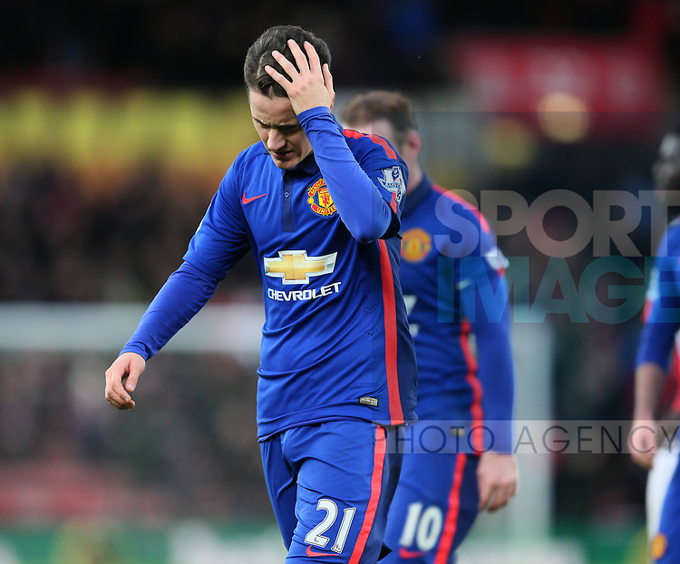 Ander Herrera OF Manchester United dejected - Barclays Premier League - Stoke City vs Manchester Utd - Stoke - England - 1st January 2015 - Picture Simon Bellis/Sportimage