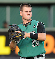 Catcher Tommy Joseph (33) of the Augusta GreenJackets, Class A affiliate of the San Francisco Giants, in a game against the Greenville Drive on May 20, 2010, at Fluor Field at the West End in Greenville, S.C. Joseph was a 2009 second-round draft pick. Photo by: Tom Priddy/Four Seam Images