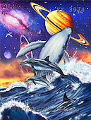 Interlitho, Lorenzo, REALISTIC ANIMALS, paintings, fish, universe(KL3974,#A#) realistische Tiere, realista, illustrations, pinturas ,puzzles