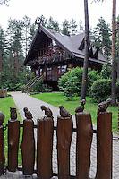 """Forstmuseum """"Echo des Waldes"""" in Drusininkai, Litauen, Europa"""